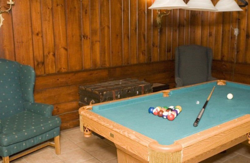 Billiards table at The Pines Inn of Lake Placid.