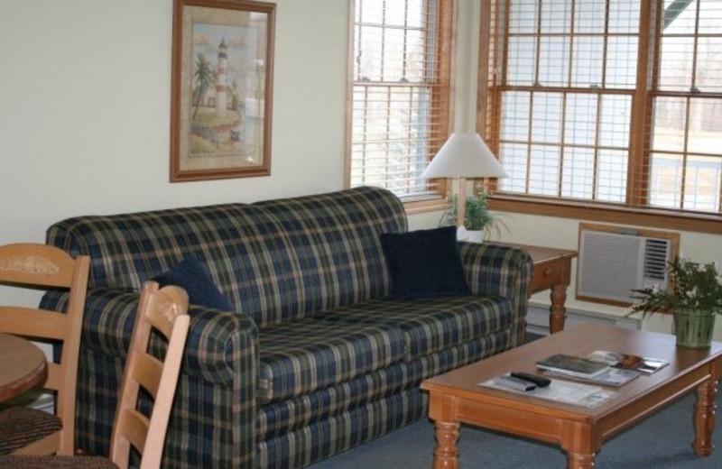 Interior of unit at Birchwood Lodge.