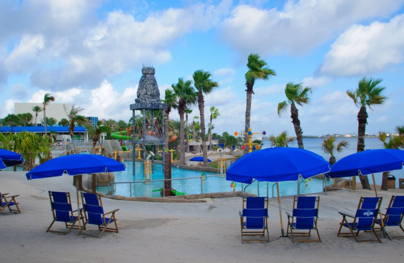 Outdoor pool at Moody Gardens Hotel Spa & Convention Center.