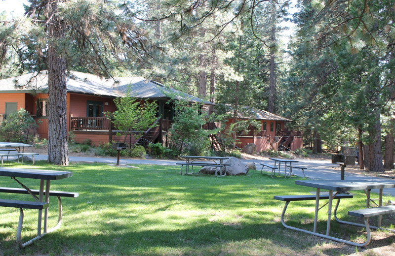 Cabin exterior at Mount Shasta Resort.