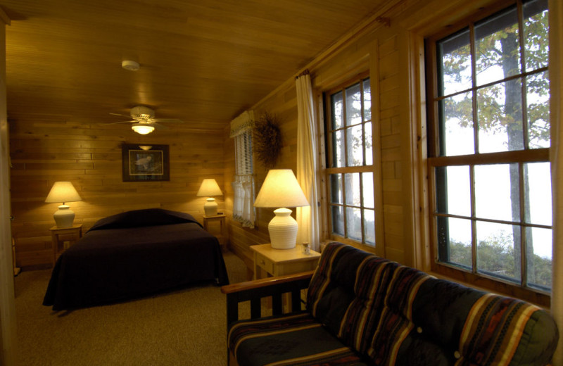 Guest room at Pitlik's Sand Beach Resort.
