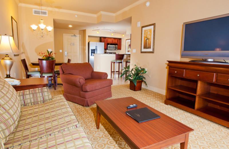 Guest suite at Lake Eve Resort.