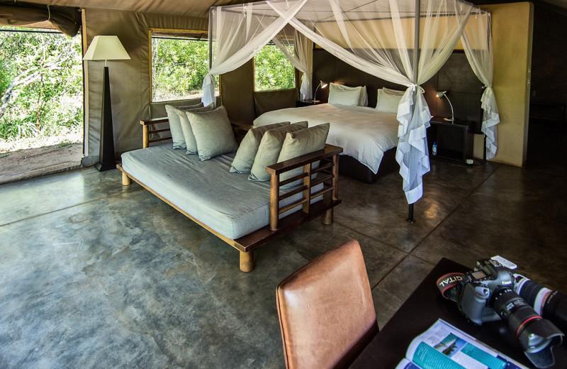 Tent at Honeyguide Tented Safari Camp.
