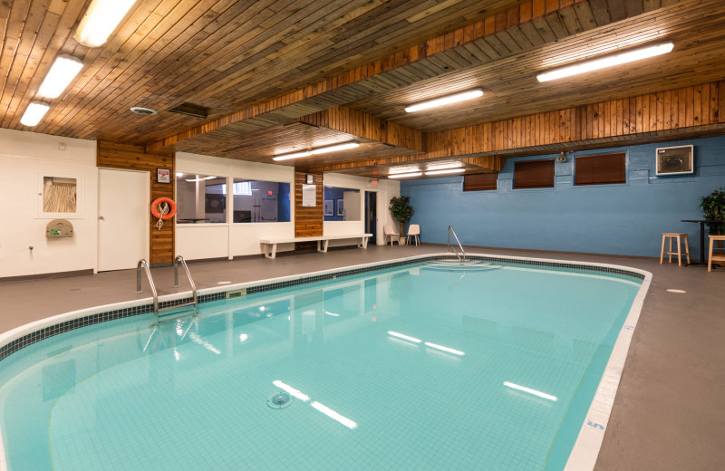 Indoor pool at Red Tree Lodge.