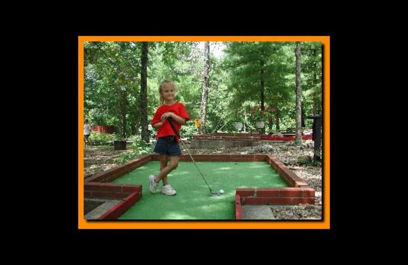 Mini golf at Sunset Point Resort.
