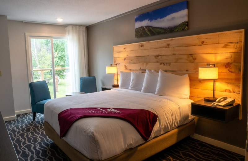 Guest room at The Mountain Inn.