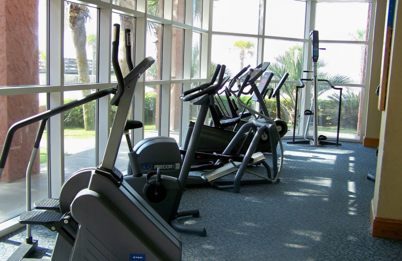 Fitness room at Perdido Beach Resort.