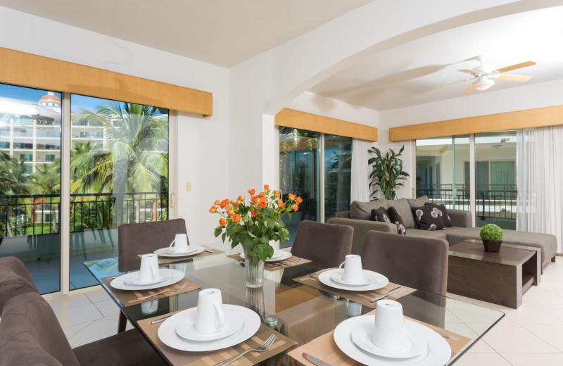 Rental dining room at La Isla - Vallarta.