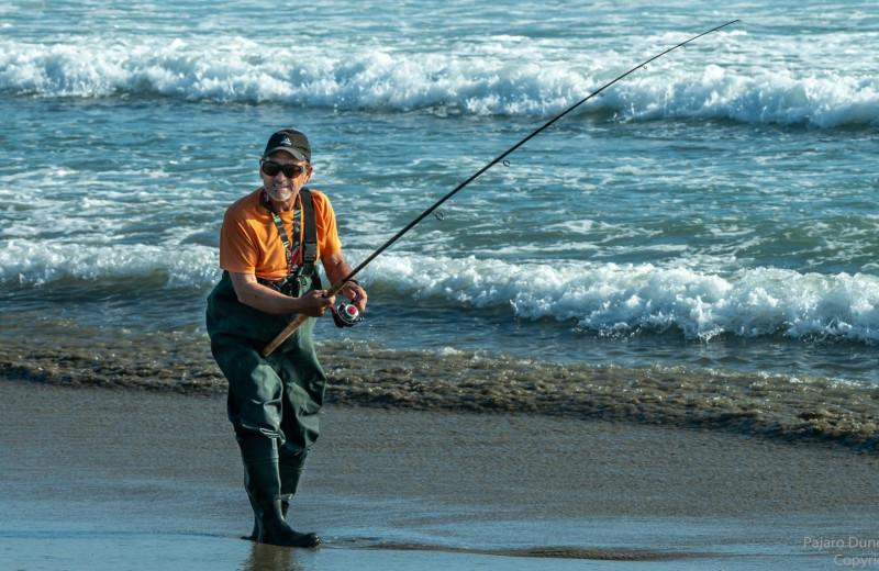 Fishing at Pajaro Dunes Resort.