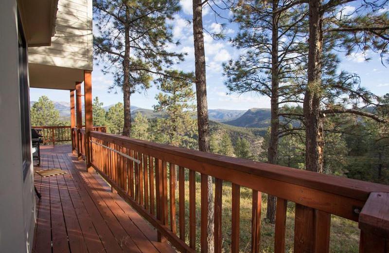 Rental balcony at Durango Colorado Vacations, LLC.