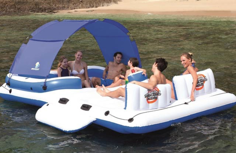 Raft at Timber Wolf Lodge Cabins.