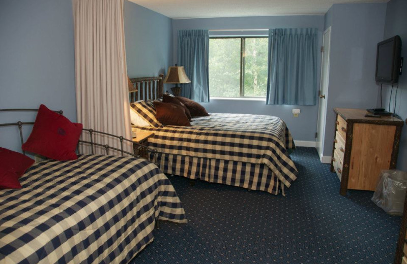 Guest room at Waterville Valley Resort.