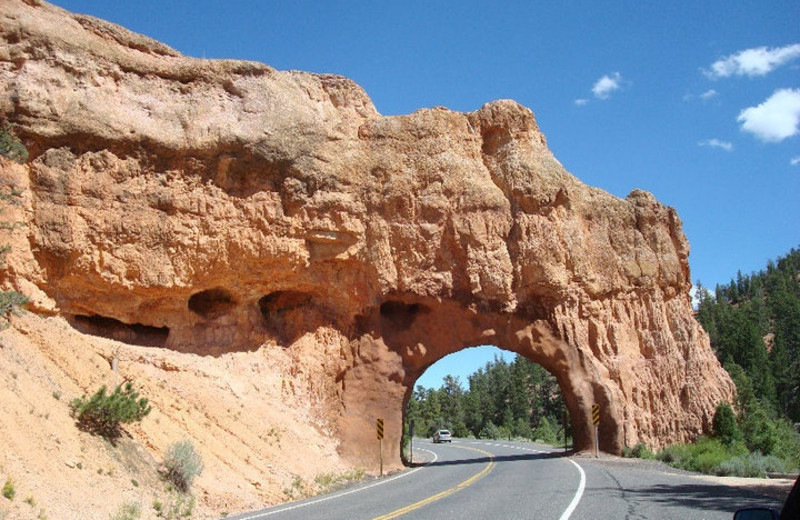 Red Canyon Tunnel near Bryce View Lodge.