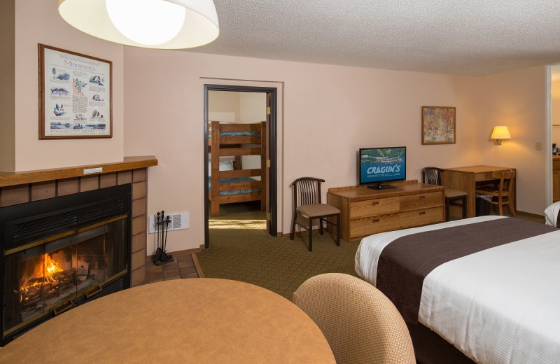 Guest room at Cragun's Resort and Hotel on Gull Lake.