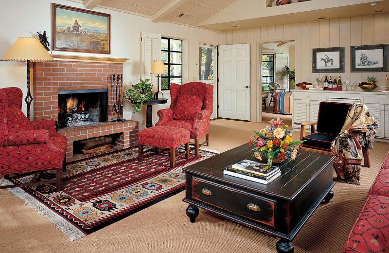 Guest living room at Alisal Guest Ranch and Resort.