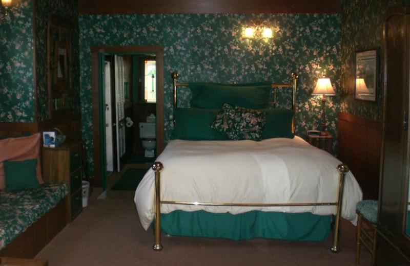 Guest bedroom at A Victorian Garden Inn.