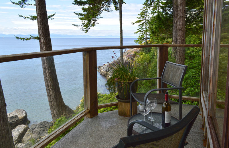 Rental balcony at Island Vacation Homes.