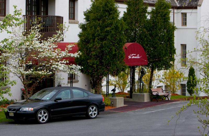 Entrance to La Tourelle Resort & Spa.