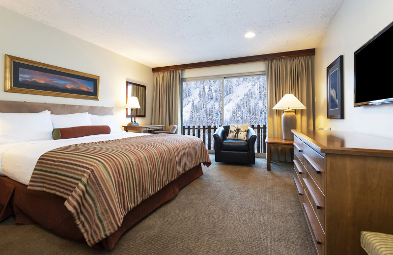 Guest room at Alta's Rustler Lodge.