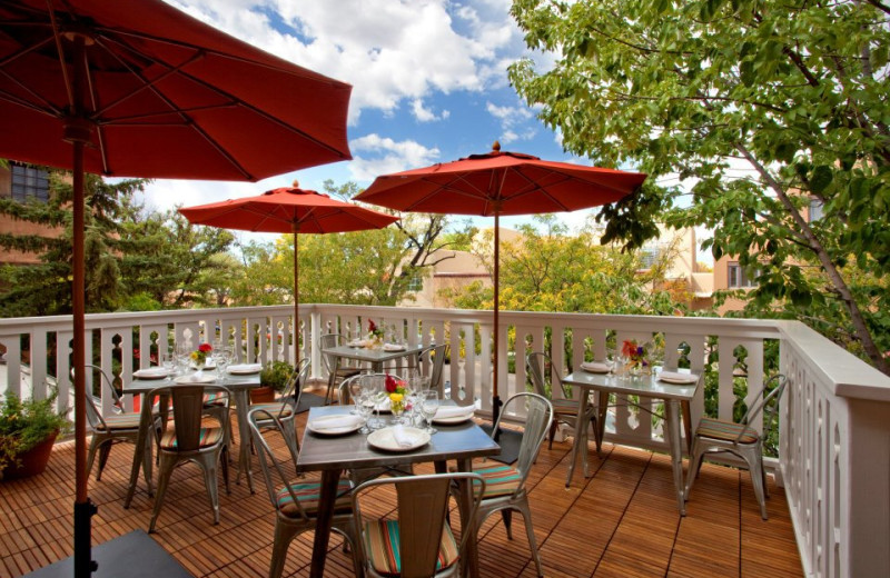 Outdoor dining at Hotel Chimayo de Santa Fe.