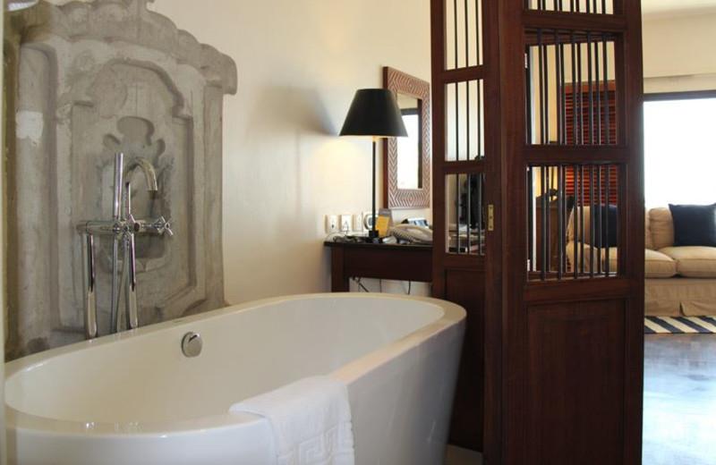 Guest bathroom at Best Western Coral Beach Hotel.