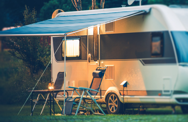 RV camping at Hidden Haven Resort and Campground.