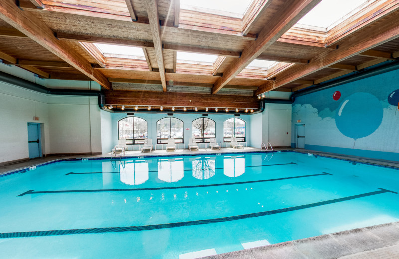 Indoor pool at Penn Wells Hotel & Lodge.