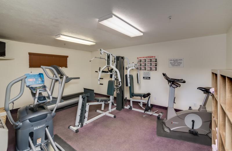 Fitness room at St. George Inn.