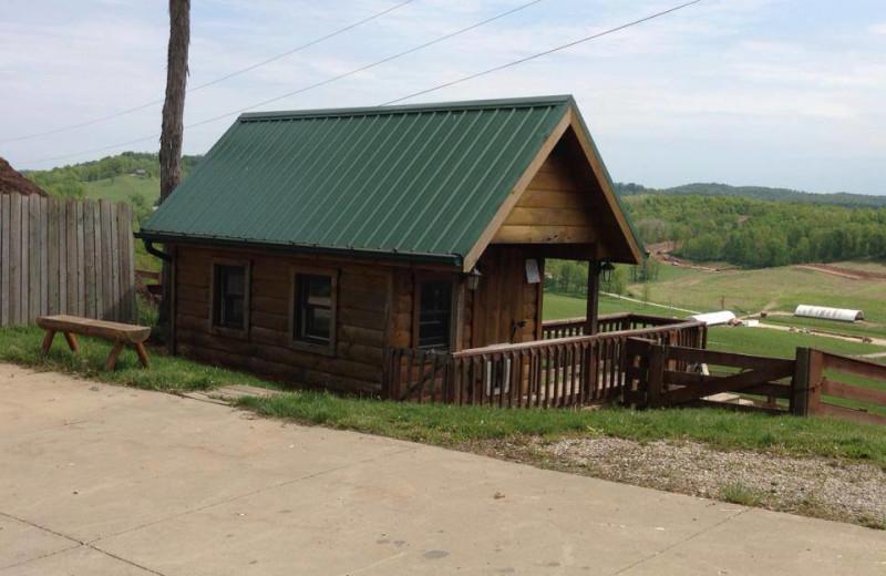 Cabin exterior at Pine Lakes Lodge.