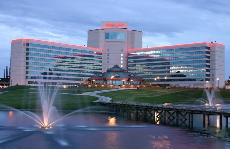 Exterior view of Mystic Lake Casino Hotel.