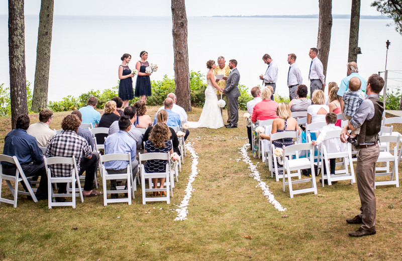 Wedding Ceremony at Beaver Island Lodge