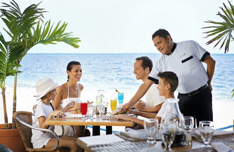 Family Dining at Barcelo Costa Cancun