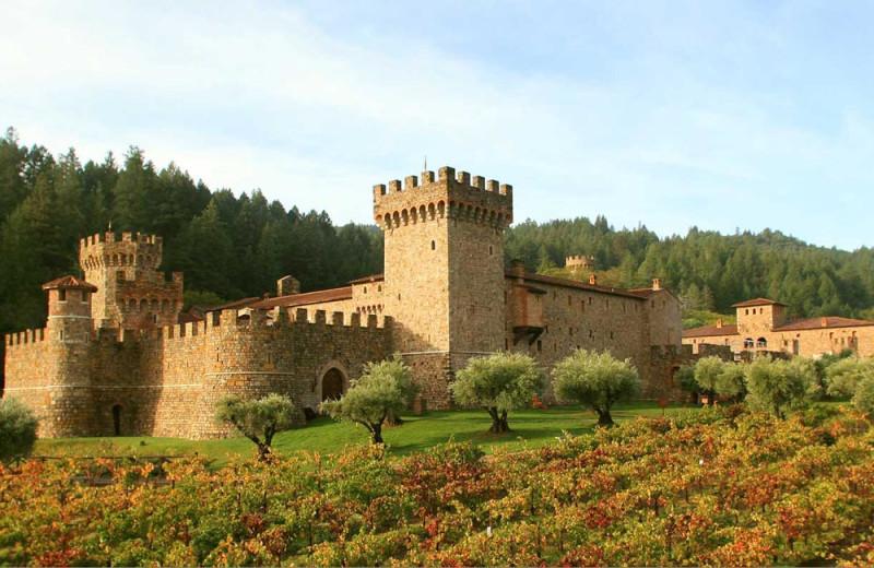 Castello di Amorosa near Carlin Country Cottages.