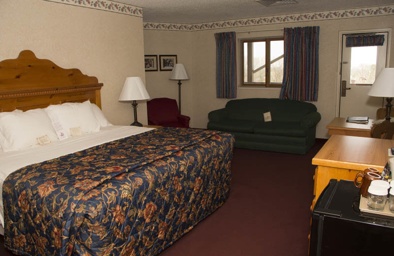 Guest room at Bavarian Inn of Frankenmuth.