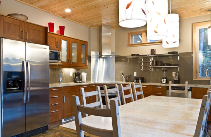 Rental kitchen at Luxury Getaways.