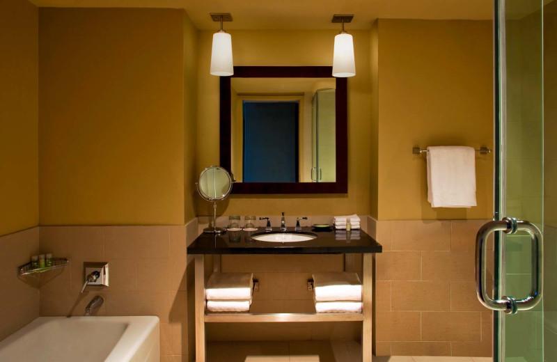 Guest bathroom at The Westin Huntsville.