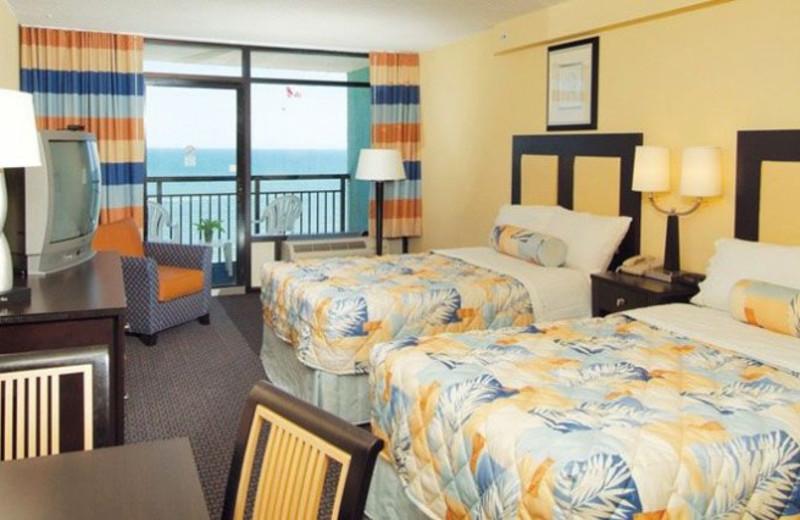 Guest room at S.O.L.A.R. Resorts.