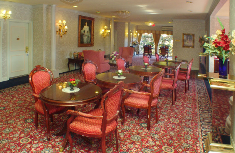 Dining area at Carlyle Hotel.