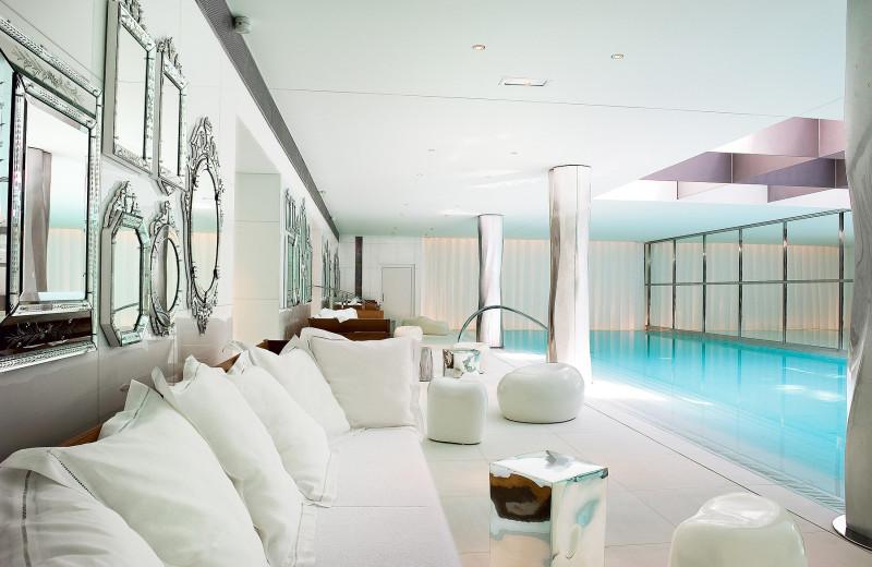 Indoor pool at Royal Monceau.
