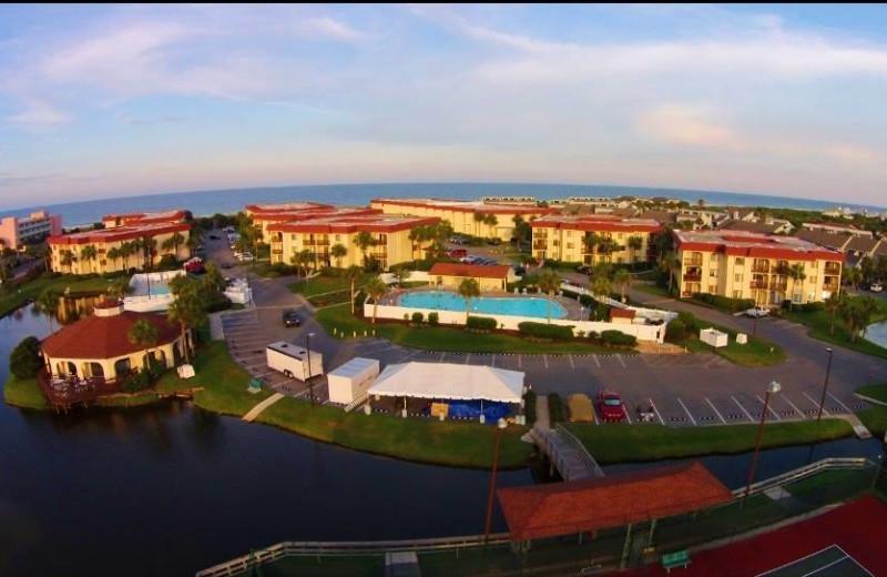 Aerial view of St. Augustine Ocean & Racquet Resort.
