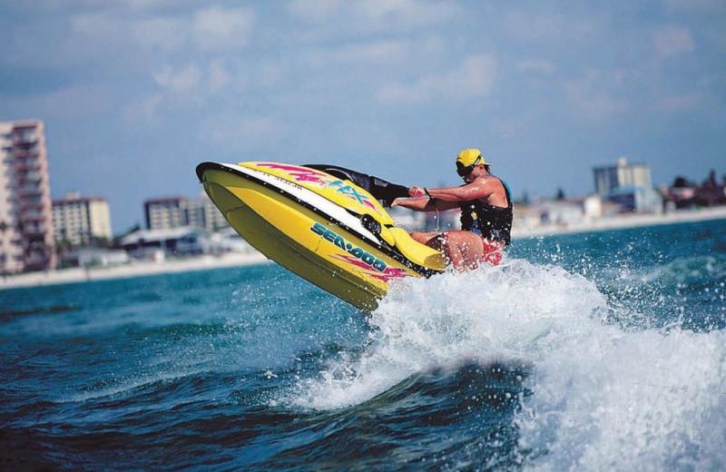 Jet skis at Gulf Winds Resort Condominiums.