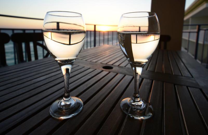Romantic beach view at Nautilus Condominiums.