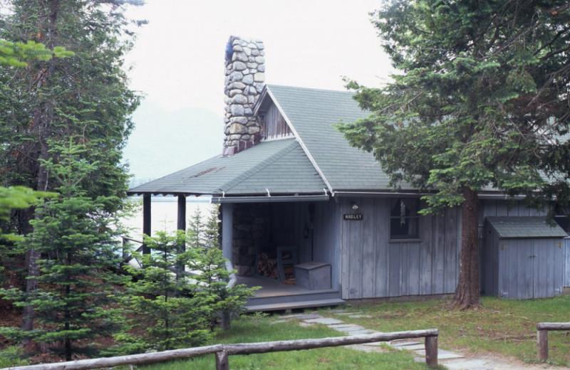 Hadley Cottage exterior at at Elk Lake Lodge.