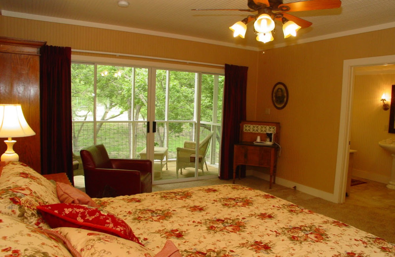 Guest room at Meyer Bed & Breakfast.