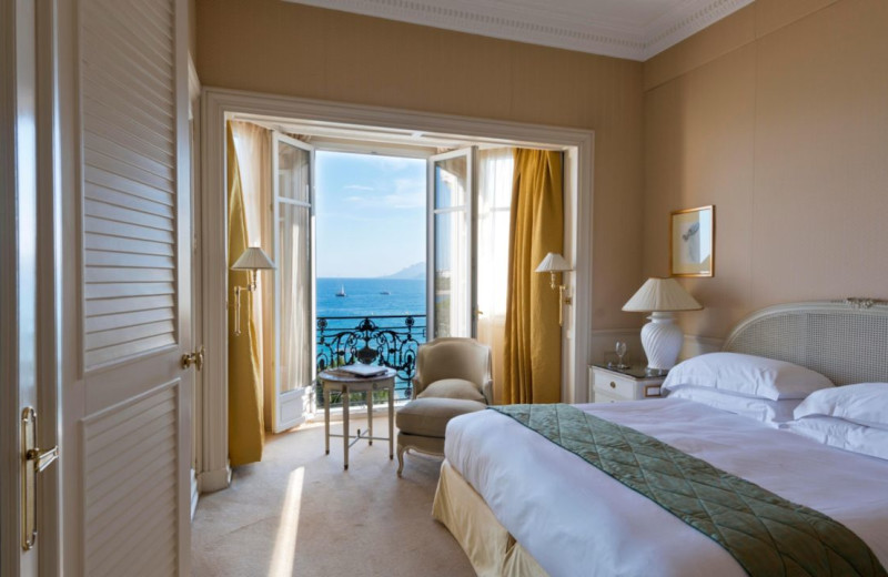 Guest room at Carlton Inter-Continental Cannes.
