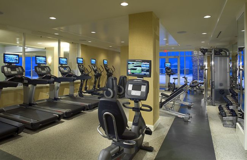 Fitness room at JW Marriott The Rosseau Muskoka Resort & Spa.