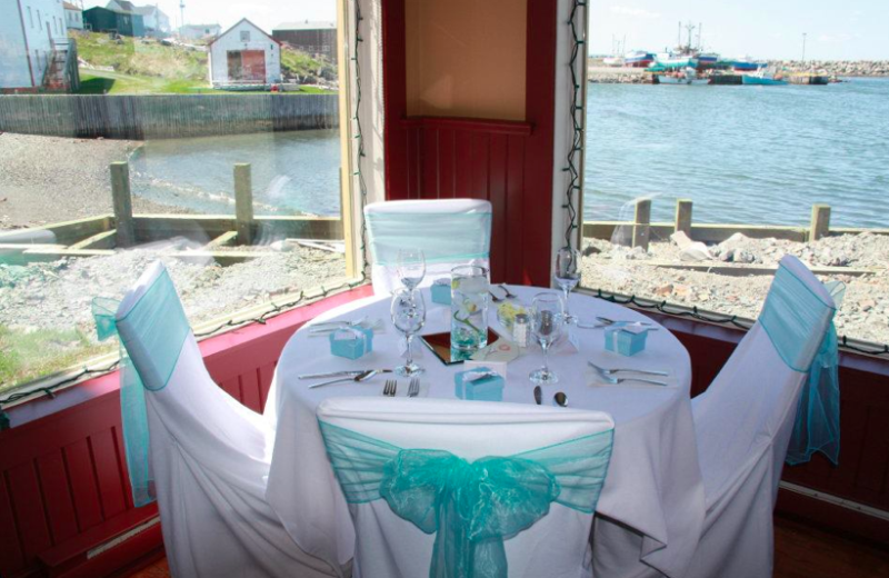 Dining at The Harbour Quarters Inn.