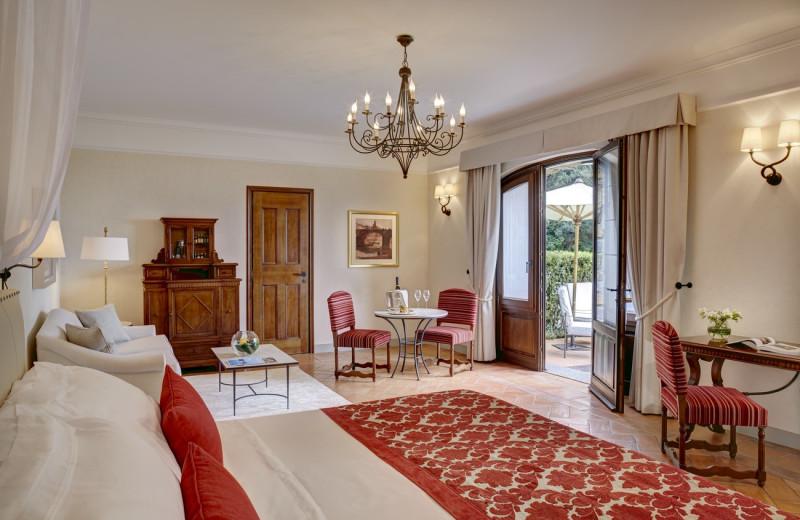 Guest room at Villa San Michele.