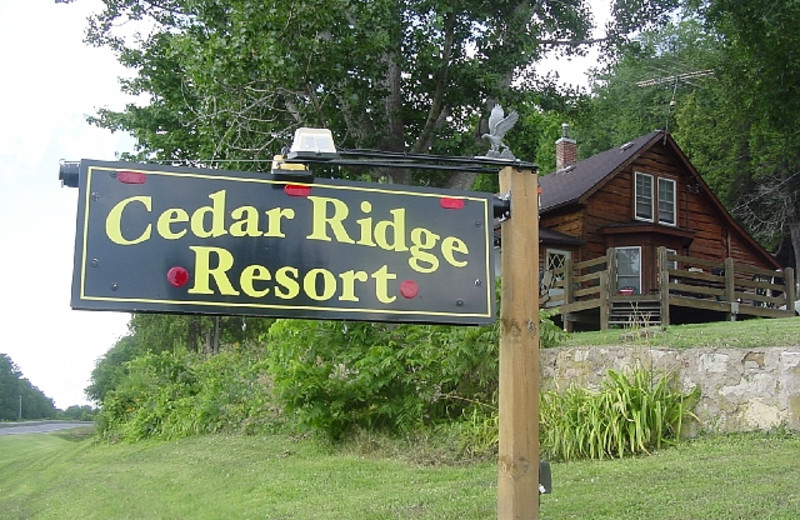 Entrance to Cedar Ridge Resort