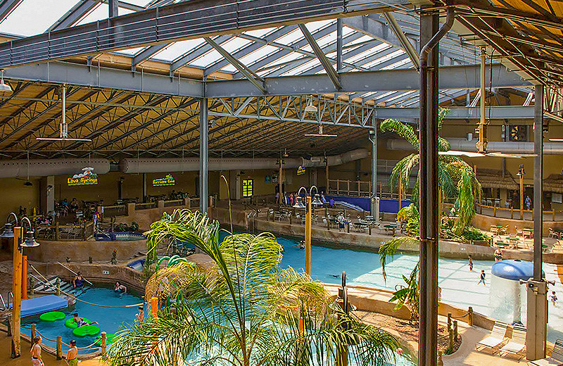 Indoor waterpark at Split Rock Resort & Golf Club.